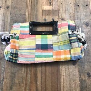 J Crew vintage Madras purse/clutch